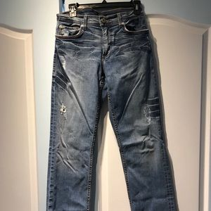 Armani Exchange, size 29, distressed jeans
